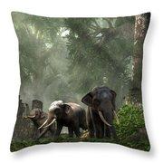 Elephant Kingdom Throw Pillow