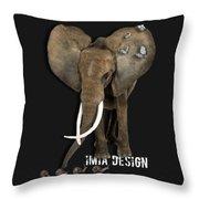 Elephant No 04 Throw Pillow