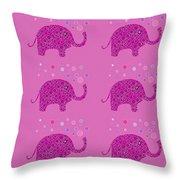 Elephant Pattern Throw Pillow