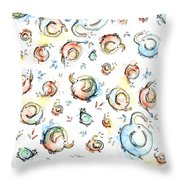 Elephant Pattern Watercolor Throw Pillow