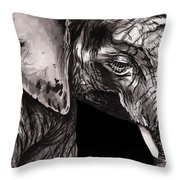 Elephant Print Throw Pillow