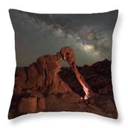 Elephant Rock Milky Way Galaxy Throw Pillow