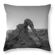 Elephant Rock Sunrise Bw  Throw Pillow