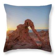 Elephant Rock Sunrise  Throw Pillow