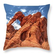 Elephant Rock, Valley Of Fire State Park, Nevada Throw Pillow