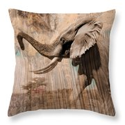 Elephant Visions Wall Art Throw Pillow