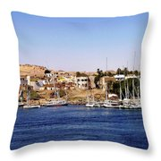 Elephantine Island Aswan Throw Pillow