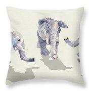 Elephants Throw Pillow