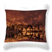 Elephants In The Clouds Throw Pillow