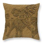 Elephants Three Throw Pillow