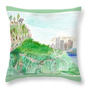 Elephoot And Friends In Satpura Mountains In India Throw Pillow