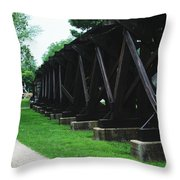 Elevated Railroad Throw Pillow