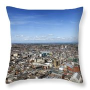 Elevated View Of Blackpool Throw Pillow