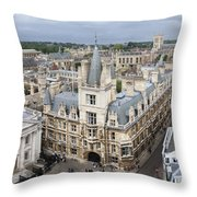 Elevated View Of Cambridge Throw Pillow