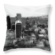 Elevated View Of London Throw Pillow