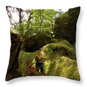 Elf Cave Throw Pillow
