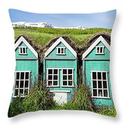 Elf Houses Throw Pillow