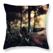 Elf Knights Throw Pillow