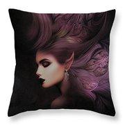 Elf Mystical Beauty 02 Throw Pillow