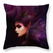 Elf Mystical Beauty Throw Pillow