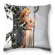 Elf Princess Throw Pillow