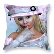 Elfin Beauty Throw Pillow