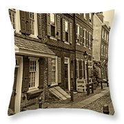 Elfreths Alley Throw Pillow