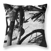 Elgin Bicycle Shadow Throw Pillow