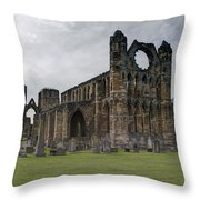 Elgin Cathedral - East View Throw Pillow