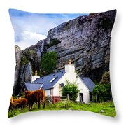 Elgol Cottage, Skye Throw Pillow