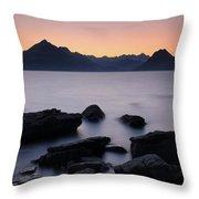 Elgol Red Sunset Throw Pillow