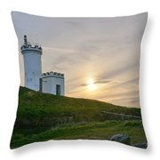 Elie Lighthouse. Late Afternoon. Throw Pillow