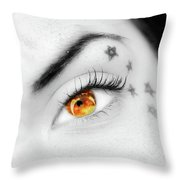 Eclipse And Lashes Throw Pillow by Scott Cordell