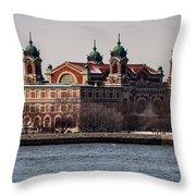 Elis Island Throw Pillow