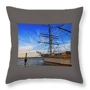 Elissa Sailing Ship Throw Pillow