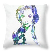 Elithabeth Taylor Throw Pillow by Naxart Studio