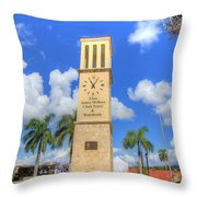 Eliza James-mcbean Clock Tower Throw Pillow