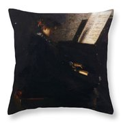 Elizabeth At The Piano Throw Pillow