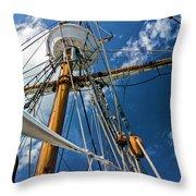 Elizabeth II Mast Rigging Throw Pillow