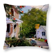 Elizabeth Street Roosters---------------- Throw Pillow