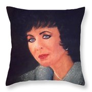 Elizabeth Taylor Portrait Throw Pillow