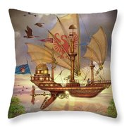 Elizabethan Ship Throw Pillow