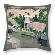 Elk Gorge And Western Throw Pillow