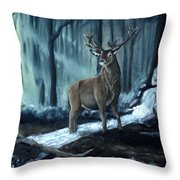 Elk In The Morning Throw Pillow