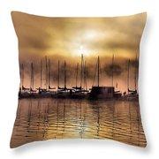 Elk Lake Morning  Throw Pillow