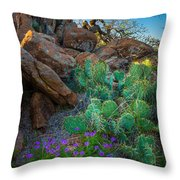 Elk Mountain Flowers Throw Pillow by Inge Johnsson