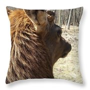 Elk Profile Throw Pillow