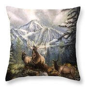 Elk Ridge Throw Pillow