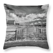 Elk River Valley In Infrared Throw Pillow