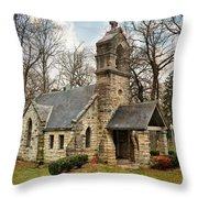 Elkhart Illinois Chapel Throw Pillow